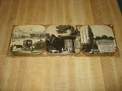 Awesome Vintage Bardakalti Sous-Verre Coasters made in Turkey