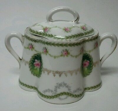 Vintage Rosenthal R C Crysantheme Porcelain Sugar Bowl With Lid