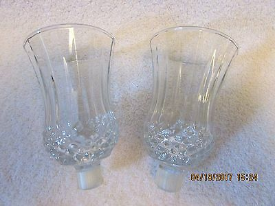 Set 2 Home Interior Clear Small Diamond Bottom Votive Candle Cups & Grommets