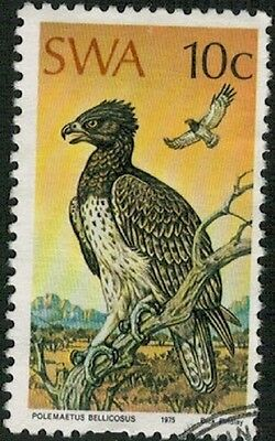 Lot 3851 - South West Africa – 1975 used 10c Protected Birds of Prey stamp