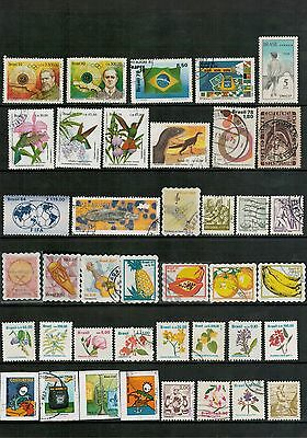 Lot 4165 - Brazil - mixed selection of 40 stamps from various years
