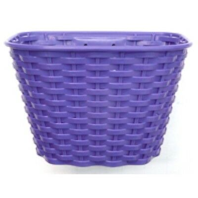 Brand new Girls Bike Basket Plastic Front Purple with bracket and fitting set