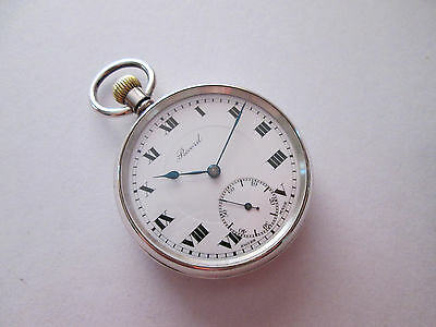 Antique Record Sterling Silver Case Men's Pocket Watch!