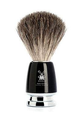 MÜHLE Rytmo Pure Badger Hair Shaving Brush with Black Resin Handle