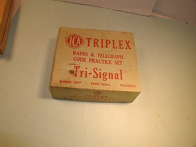 1950's Triplex Radio & Telegraph Code Practice Set by ICA in Box