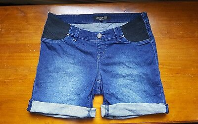 jeanswest size 10 denim maternity shorts
