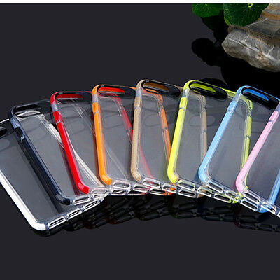 Shockproof Soft TPU Rubber Clear Frame Bumper Case Cover For iPhone 7 7 Plus 6s