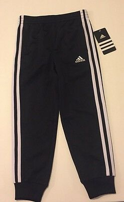 Kids Black With White Adidas Pants Size 5 NWT