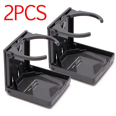 2x Adjustable Folding Cup Drink Bottle Holder Stand Mount for Auto Boat RV Van