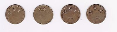 Costa Rica: Coffee Token - Hipolito Tournon Lot Of 4 Tokens