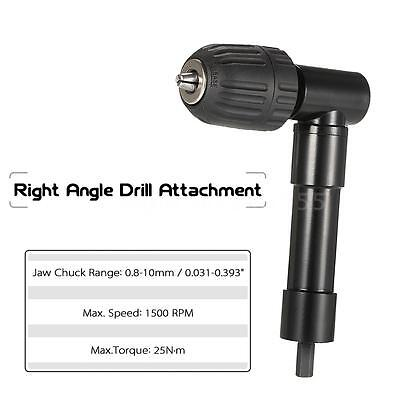 Right Angle Bend Extension 90 Degree 90° Cordless Drill Attachment Adapter Black