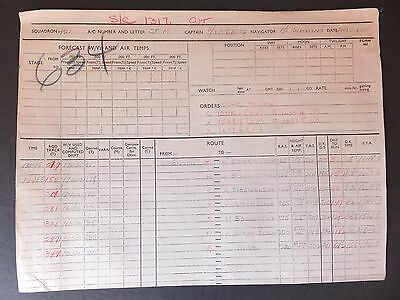 WWII  Original and authentic Bombing Mission Log- Lancaster Bomber -RCAF