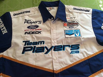 TEAM PLAYERS.CA NASCAR RACING SHIRT Vintage Size Large
