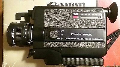 Vintage Canon 310-XL Film Camera With Leather Case Box Super 8 Tested