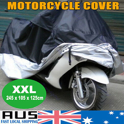XXL Waterproof Outdoor Motorcycle bike Cruiser Scooter Protector Dust Rain Cover