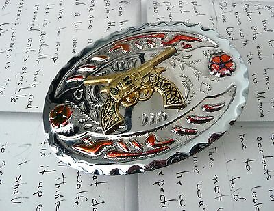 Country Western Hook Tin Belt Buckle + FREE POSTAGE