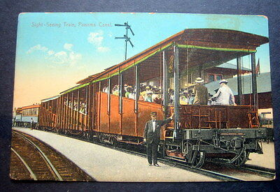 PANAMA 1900s  SIGHT-SEEING TRAIN   -- PANAMA CANAL