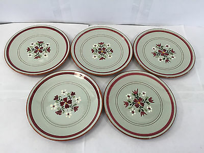 """Vintage Lot 5 Stangl Garland 6 1/4"""" Side Plates Bread Exc Cond Art Pottery"""