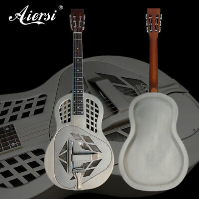Matt Brass Body Tricone Style Acoustic Resonator Resophonic Guitar A49-BCM
