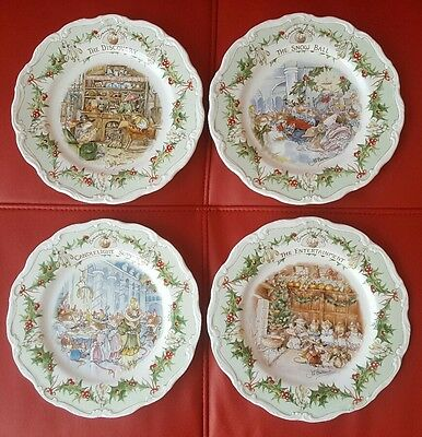 Royal Doulton Brambly Hedge Midwinter 4 Plates Full Series Collection. CAN POST.