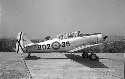 North American Snj Texan Spanish Air Force Original Black&white Negative 1967