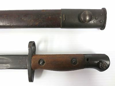 WWII Australian British 1944 Bayonet, Mangrovite Orange Arsenal #1907
