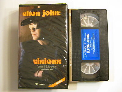 Elton John VHS Visions 45 minutes home video 1982 The Fox