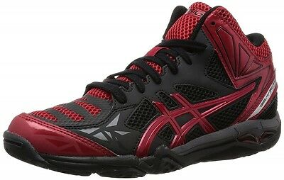 NEW ASICS GEL-V SWIFT CV MT Volleyball Shoes TVR484 Black Red With Tracking