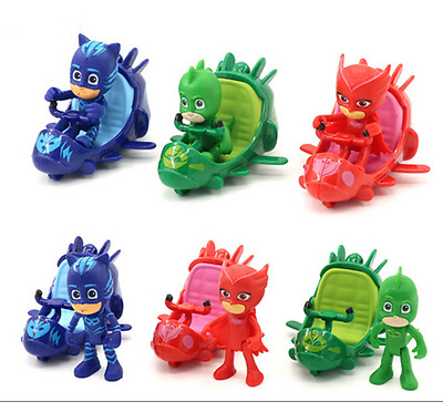 3pcs/set PJ Masks Catboy Owlette Gekko Cloak Slide Car Action Figure Toy G122391