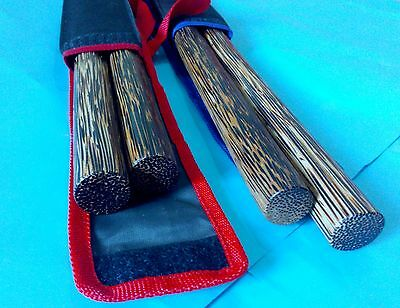 "4 Bahi sticks 20""(51 cm) Palm ironwood  escrima Arnis Escrima Serrada Philippine"