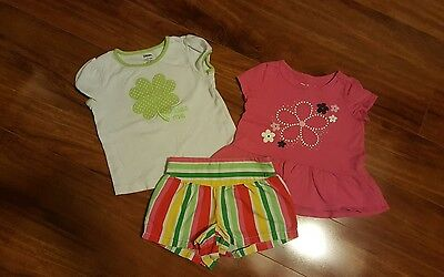 EUC Baby toddler Girl Gymboree & Jumping Beans 3 Piece Outfit Set!