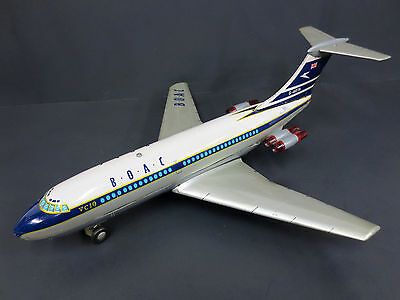"Vintage Marx Toy BOAC Airlines Airplane 15"" Boeing, VC10 Battery Operated WORKS"