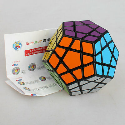 ShengShou Megaminx Dodecahedron Cubo Cubo Magia Cubo De Magia Negro
