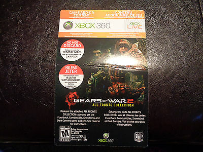 Xbox 360 Gears Of War 2 All Fronts Collection 19 MAPS Download Code New Unused