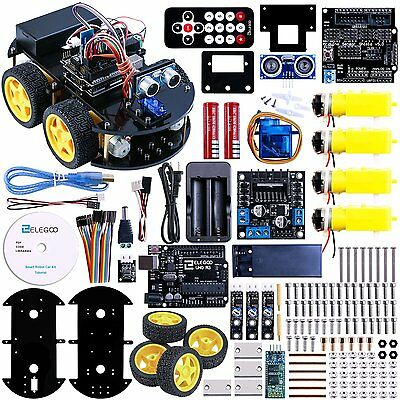 Elegoo Arduino Project Smart Robot Car Kit with Four-wheel Drives UNO R3 New!!!!