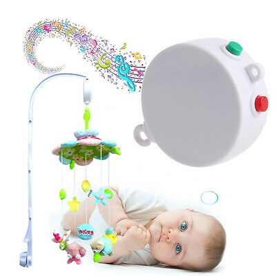 5 Songs Rotary Baby Mobile Crib Bed Toy Child Music Box Movement Bell Nursery