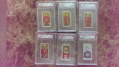 lot of 6 psa graded superstar first inductees in Lacrosse HOF