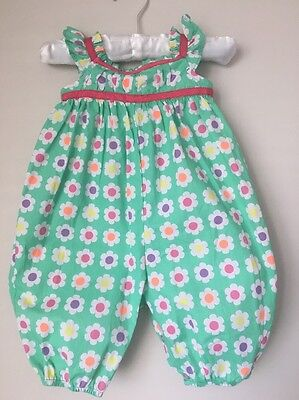Rhubarb Baby Floral Romper Size 0-3 Months (000)