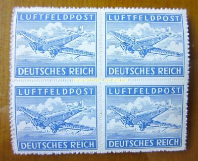 EBS Germany 1942 Military Post Stamp for Air Letters - Michel 1B BLOCK 4 MNH**