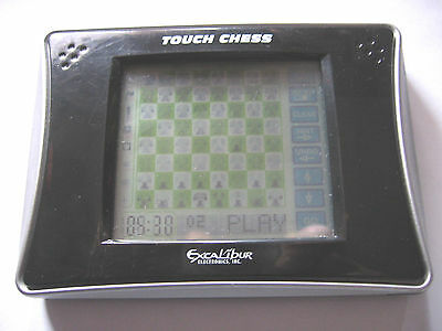 Excalibur Einstein Touch Chess Pocket Electronic Handheld Portable Game ~ Works