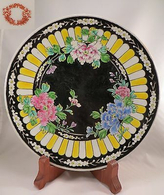 Antique Meiji Japanese Yamatoku Porcelain Plate Yellow Arita Imari Nippon Japan