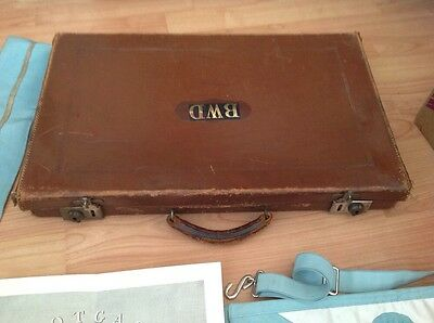 Masonic Brown Leather Case With Keys  And Ragalia