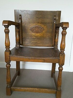 Antique wooden chair and table