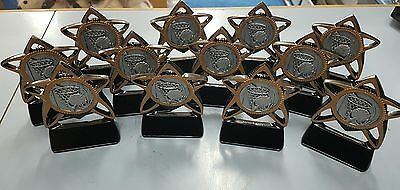 12 x 13cm Netball Trophies Discontinued Range. Other quantities also available