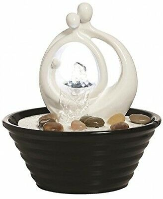 Couple Lit Indoor Table Top Water Feature Feng Shui Fountain Home Decor Gift