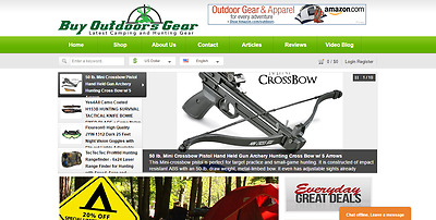 Established Profitable CAMPING,FISHING & HUNTING Gear Turnkey Website For Sale