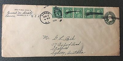 UNITED STATES 1c EMBOSSED POSTAL STATIONARY COVER WITH 1922 FRANKLIN STRIP 5