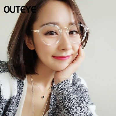 Oval Round Metal frame Clear lens Fashion Glasses Unisex Retro Spectacles DAZ