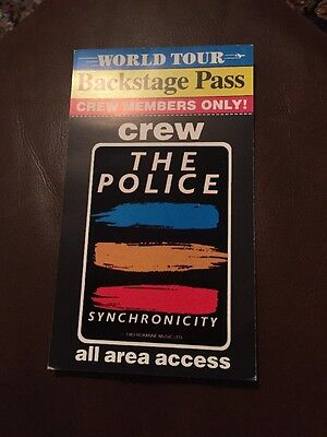 The Police Backstage Pass 1983 Buddies