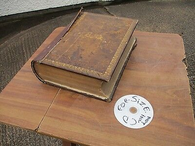 Antique Welsh Family Bible. Ann Jones,1871. With B & W Plates  Free  Delivery.